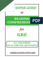GRE - Reading Comprehension