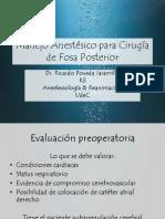 Manejo Anestésico para Cirugía de Fosa Posterior