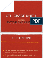 6th Grade Unit 1 Factors and Multiples