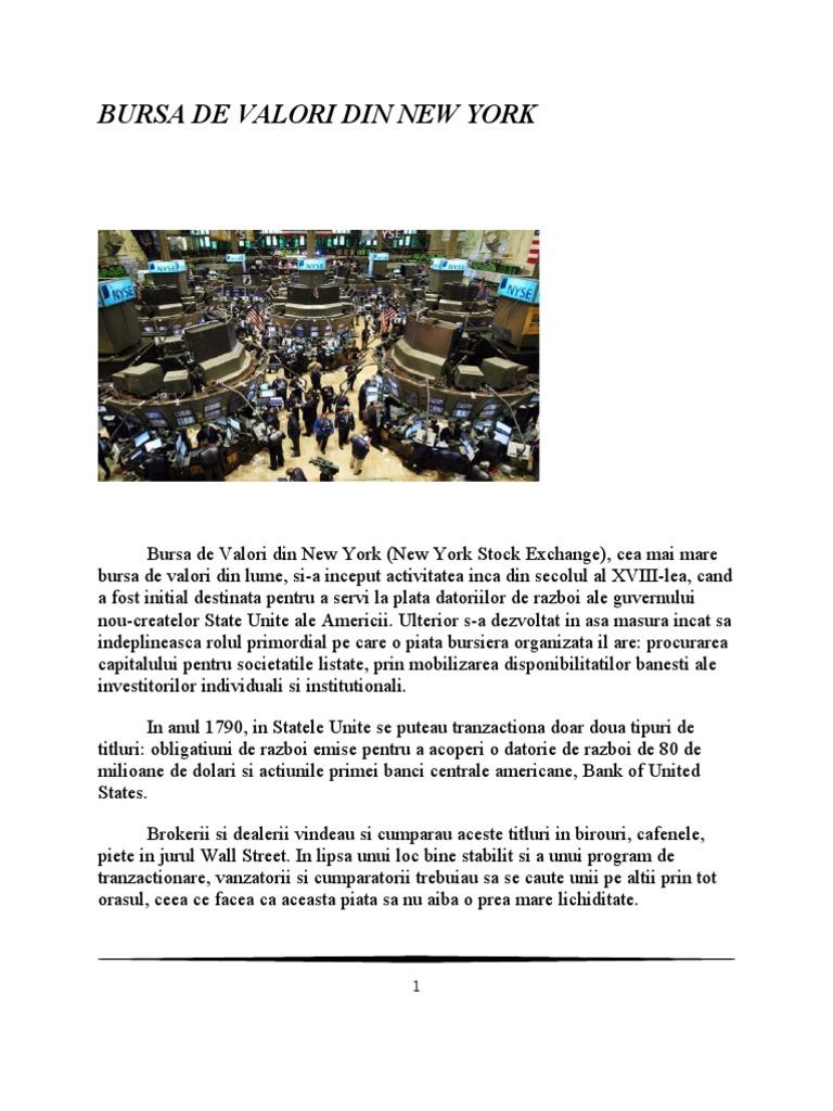 ceea ce este tranzactionarea burselor de valori la