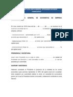 Modelos de Acta de Junta Directiva