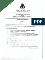 Soalan Percubaan PMR Bahasa Inggeris 1 JPWPKL 2012