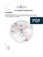 List of Countries Without Vietnam Visa Exemption