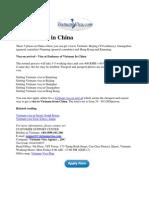 Vietnam Visa in China