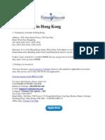 Vietnam Visa in Hong Kong