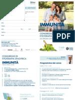 IMMUNITÀ - Invito e Programam del Congresso di Fitoterapia Spagyrica -