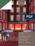 Apex Temple Court Hotel Brochure