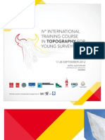 Programa IV International Training Course in Topography
