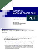 Seminário- , GOHN - Maria da Glória