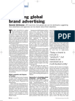 Brand Strategy - Managing Global Brand Advertising