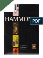 Hammond Model T Organ Owners Manual