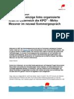neuwal Sommergespräch 2012 mit Mirko Messner (KPÖ)
