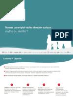 Groupe Adecco France - Etude Réseaux Sociaux - 17 septembre 2012