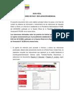 Guia Seniat (Venezuela) declaracion electrónica de retenciones de ISLR mensual