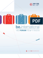 VBO Forum 'be.international' Conferentiebrochure - Deel 1