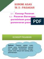 ekonomi asas bab 5 Pasaran
