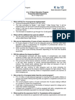 2 FAQs K to 12.DepED.16 April 2012