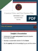 Cranston Pension Presentation, 9-13-2012