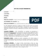 Modelo de Contrato de Locaçao Residencial - FIANÇA
