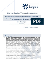 Kenyan Banks_Time to Be Selective_We Remain Concerned by Credit Risks_Despite Higher Cost of Deposist, Banks Managed to Expand Spreads_Rolling PTs to FY13
