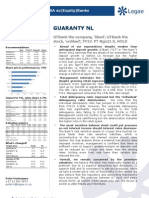 GUARANTY NL_GT the Company, Liked; GT the Stock, Unliked_Will the Asset Sensitive Balance Sheet and Growing Retail Exposure Hurt Earnings_Rolling Foward PT to FY13