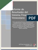 Resultados Sistema Financiero Venezuela Agosto 2012