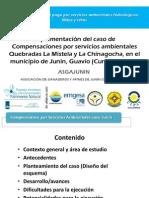 Compensación por servicios ambientales en Junín, Cundinamarca