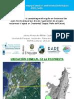 Campaña por el orgullo para el diseño y aplicación de arreglos recíprocos el agua en Valle del Cauca