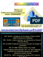 Constructio and QC in Rigid Pavements as Per IRC 15 and 58 201