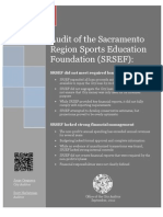 City audit of the Sacramento Region Sports Education Foundation