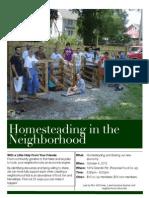 Homesteading in the Neighborhood