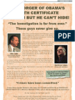 Obama BC Forger Can Run But Cannot Hide - Article II Super PAC Wash Times Ad - 17Sep2012