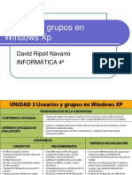 Usuarios y Grupos en Windows Xp