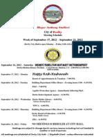 Week Starting Sept 17