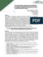 ANÁLISE DE FALHA EM PROLONGADOR DE PRENSA MECÂNICA PARA COMPACTAÇÃO DE PÓS METÁLICOS