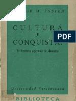 George M. Foster (1962) Cultura y conquista