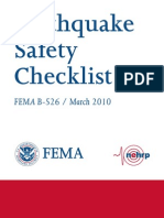 FEMA Earthquake Checklist