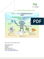 Google Ranking Factors Uk 2012