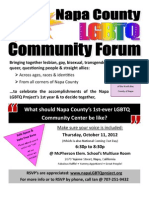 Napa LGBTQ Community Forum - October 11, 2012