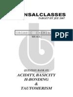 Acidicity Basicity & H- Bonding Tautomerism (Q.B.)12th