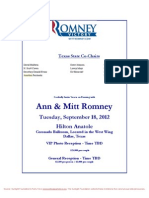 Reception and dinner with Mitt and Ann Romney
