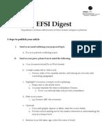 EFSI Digest Guidelines