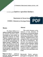 Gestao Participativa e Agricultura Familiar