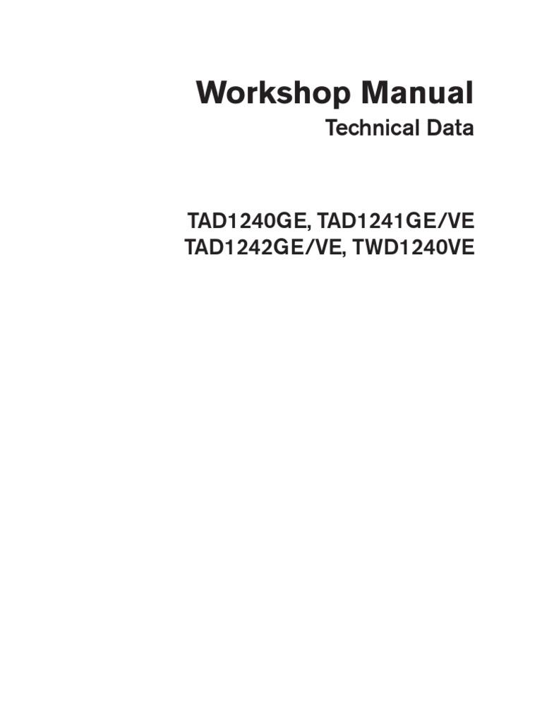 Volvo Tad 1241 Ge Workshop And Repair Manual