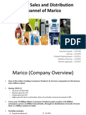 Study of Sales and Distribution Channel of Marico | Retail