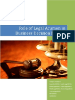 Role of Legal Acumen in Business Decision Making