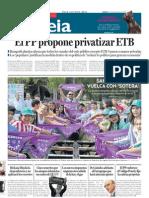 """Txebi eta 5.D """"DEIA""""n egunkarian / Txebi y sus alumn@s en el periódico """"DEIA"""""""