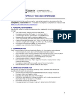 Description of 10 Core Competencies