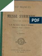 Petit Manuel de La Messe Syrienne
