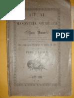 Ritual Masonico Traducido de La Version Inglesa de 1881Original